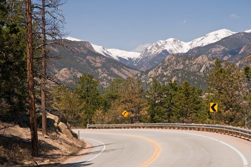 De toneel weg van Colorado royalty-vrije stock afbeeldingen