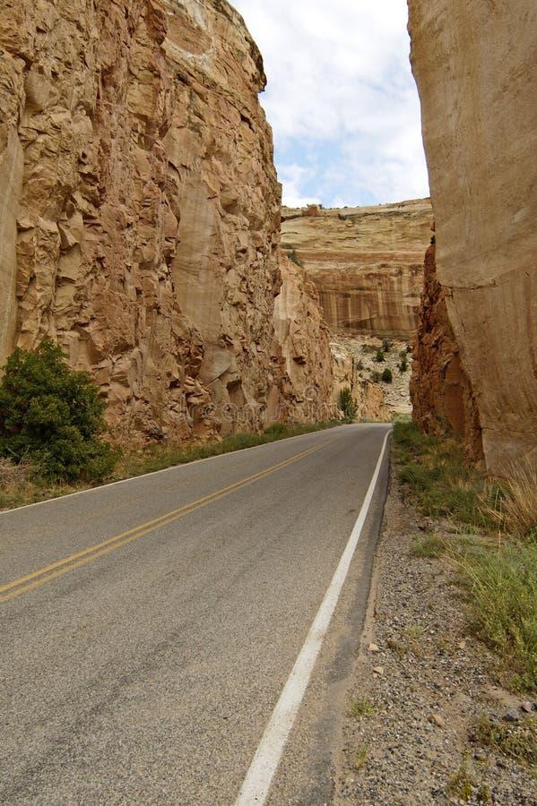 De toneel Weg van de Berg stock afbeeldingen