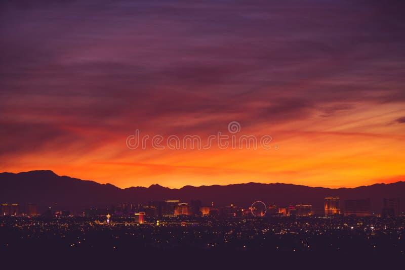 De Toneelhorizon van Las Vegas stock foto