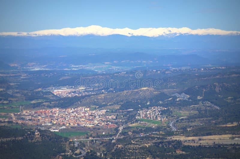 De toneelmening van de Pyreneeën en van de vallei, Spanje royalty-vrije stock fotografie