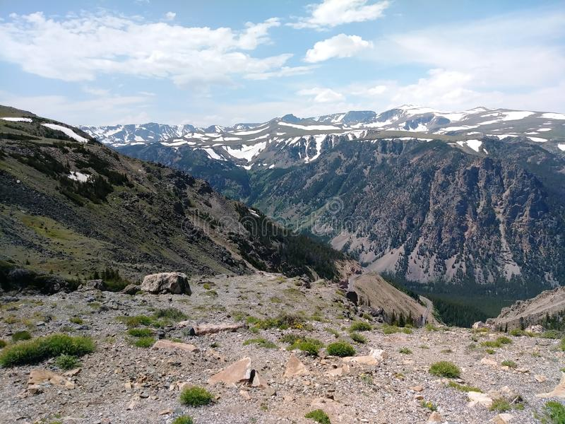 De Toneelweg van Beartooth, tijdens een reis aan het Nationale Park van Yellowstone royalty-vrije stock foto's