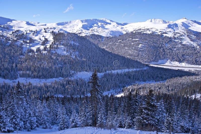De toneelwinter Colorado royalty-vrije stock foto's