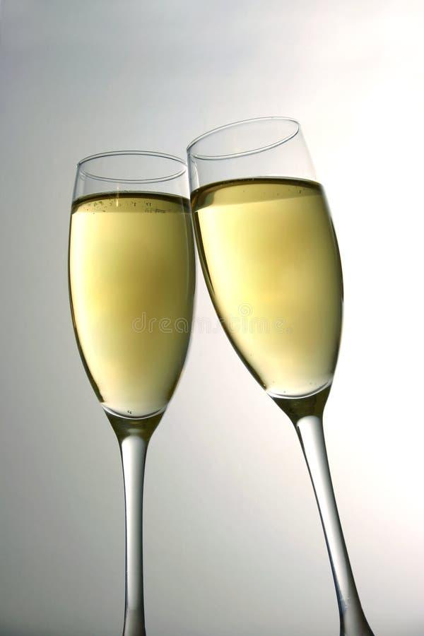 De Toost van Champagne stock foto
