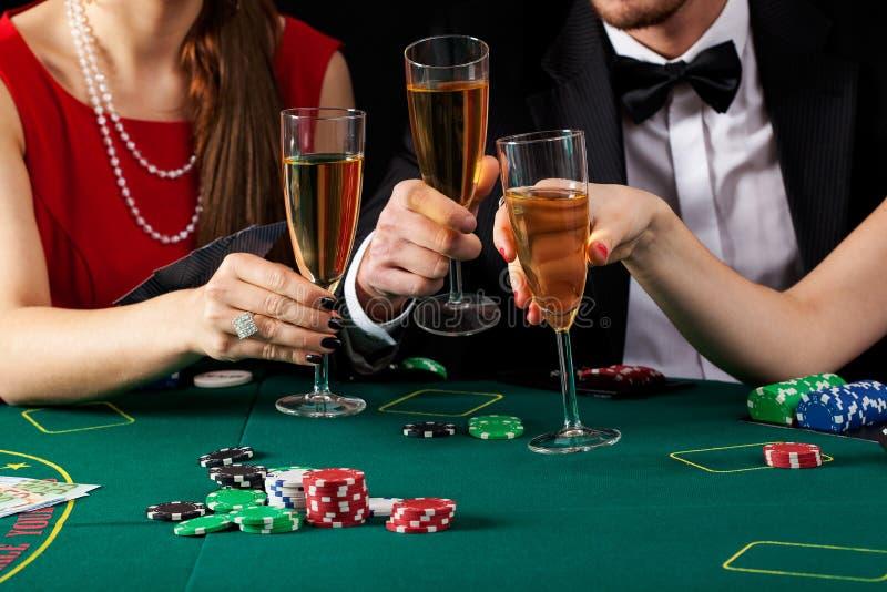 De toost van de casinochampagne stock fotografie