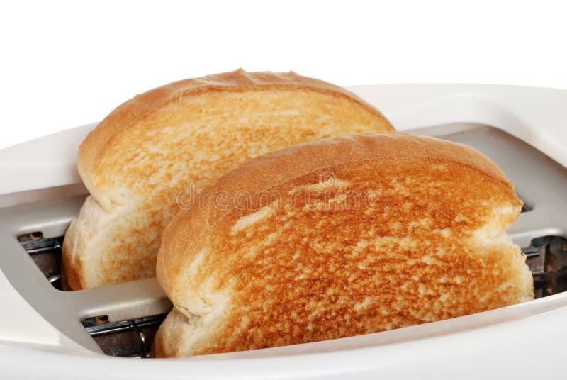 De toost van de close-up in broodrooster royalty-vrije stock afbeelding