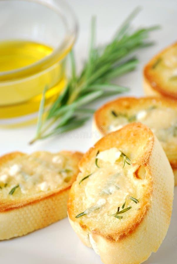 De toost van de parmezaanse kaas royalty-vrije stock afbeeldingen