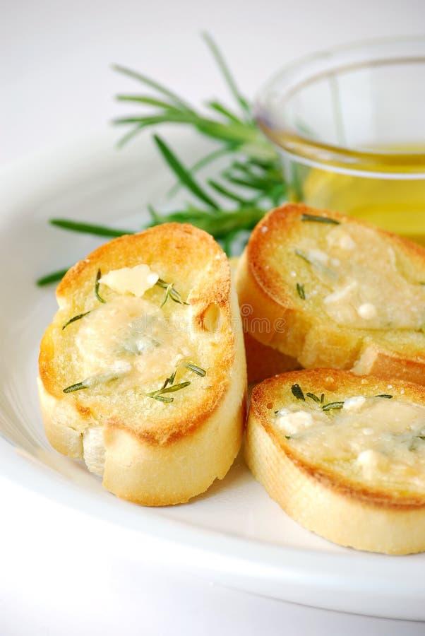 De toost van de parmezaanse kaas royalty-vrije stock afbeelding