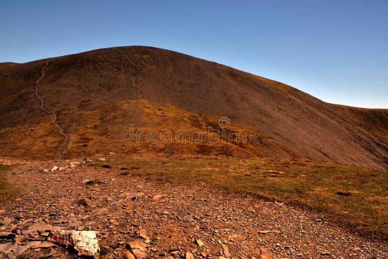 De top van de kant van Carl aan Skiddaw stock fotografie
