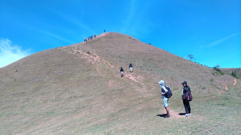 De top van Mt Ulap stock foto
