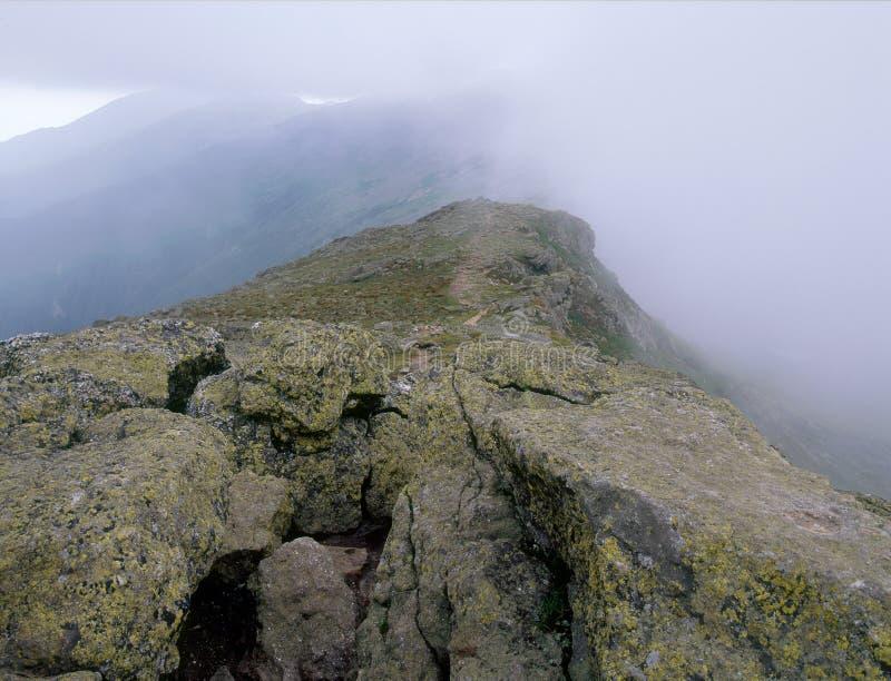 De top van Onderstel Monroe, Presidentiële Waaier, Wit Berg Nationaal Bos, New Hampshire royalty-vrije stock afbeelding