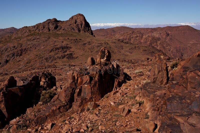 De top van Saghro (Kouaouch, 2592 m) royalty-vrije stock foto