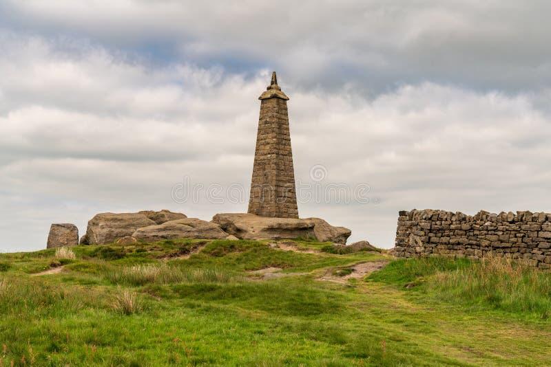 De Top van Wainman, dichtbij Motorkap, North Yorkshire, Engeland, het UK royalty-vrije stock afbeeldingen