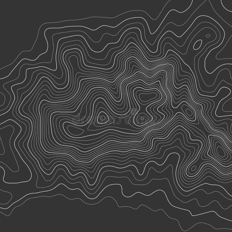 De topografische achtergrond van kaartlijnen abstracte vectorillustratie royalty-vrije illustratie