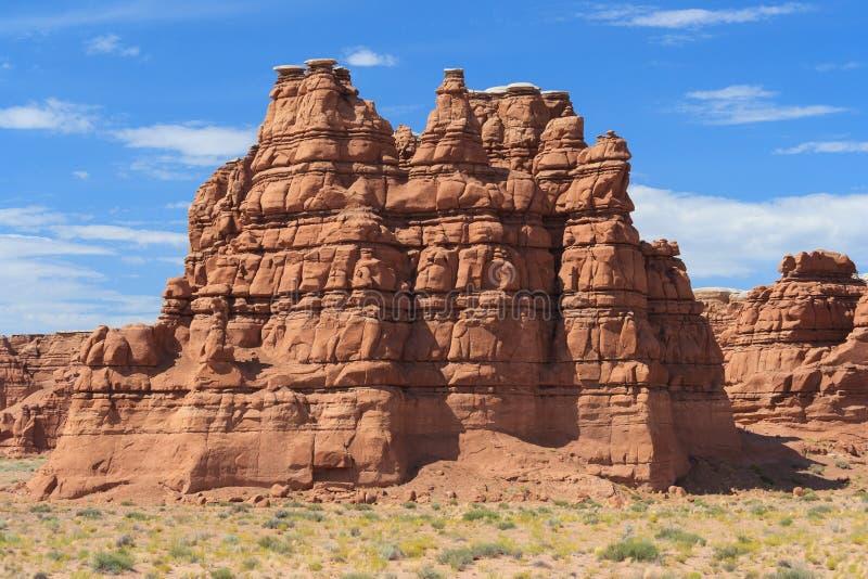 De toppen van de ongeluksboderots in centraal Utah dichtbij Koboldvallei royalty-vrije stock foto's