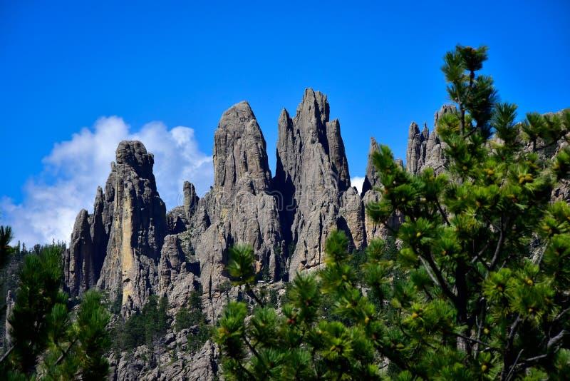 De Toppen in de Zwarte Heuvels royalty-vrije stock afbeelding