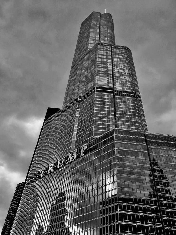 DE TOREN CHICAGO VAN DE TROEF royalty-vrije stock foto's