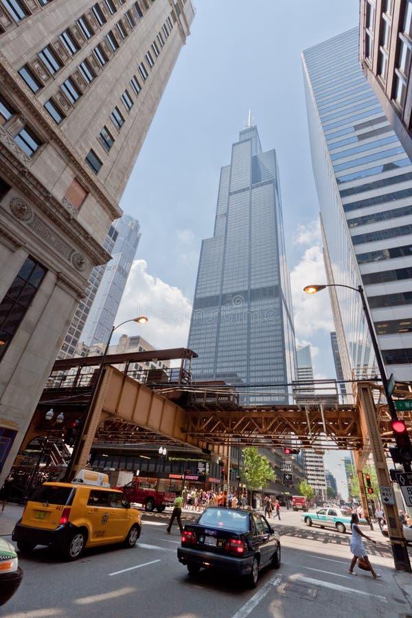De Toren Chicago van Willis stock afbeeldingen