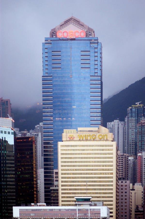 De toren Cosco in Hong Kong, China royalty-vrije stock afbeeldingen