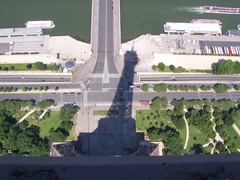 De toren en de Schaduw van Eiffel royalty-vrije stock foto's