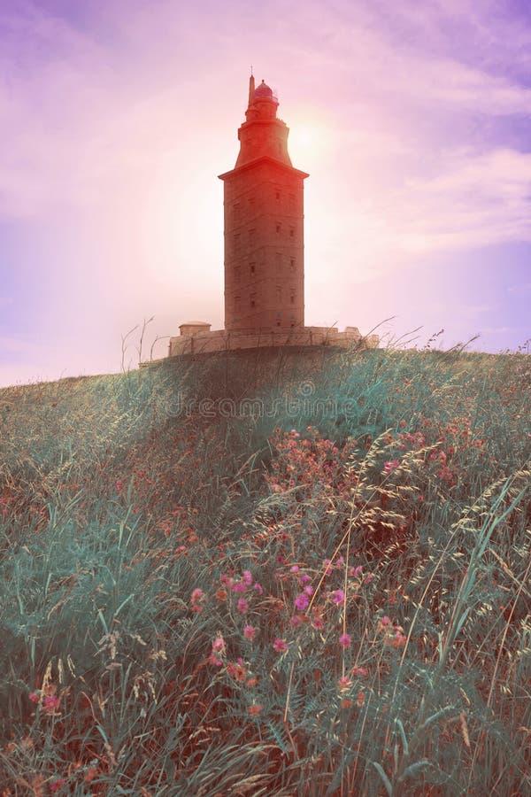 De toren Galicië Spanje van La Coruna Hercules royalty-vrije stock foto's