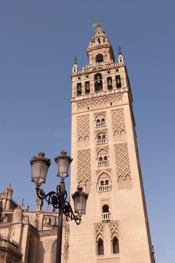De toren Giralda in Sevilla royalty-vrije stock afbeelding