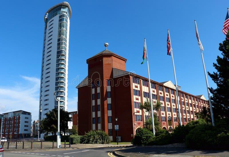 De Toren, Hoogste Kade in de Stad van Swansea, Wales, het UK royalty-vrije stock foto