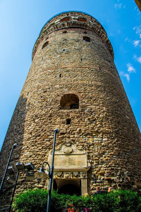 De Toren Istanboel van Galata stock foto's