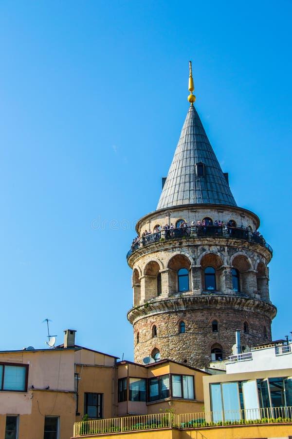 De Toren Istanboel van Galata stock fotografie