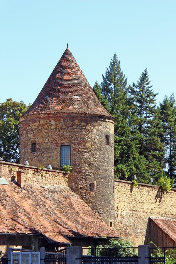 De toren naast de kathedraal van Zagreb royalty-vrije stock fotografie