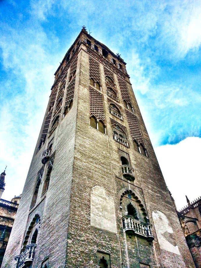 De Toren Sevilla Spanje Andalucia van La Giralda stock fotografie
