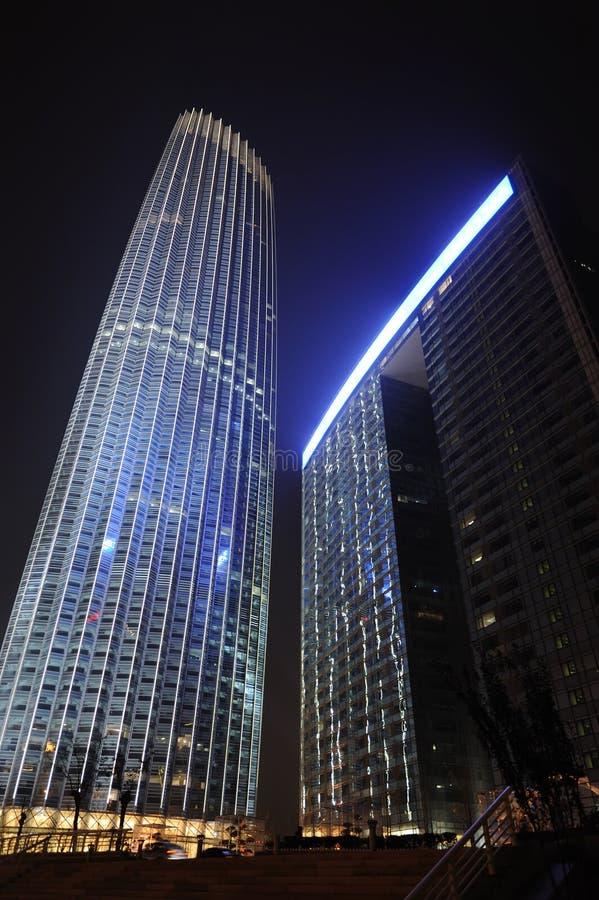 De toren Tianjin bij nacht royalty-vrije stock fotografie