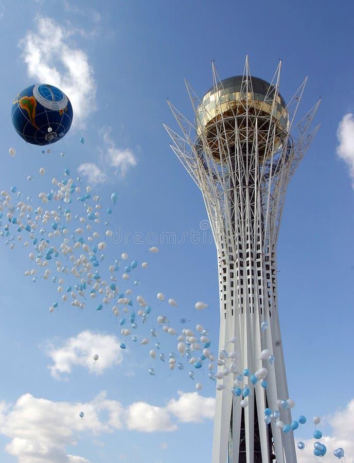 De toren van Baiterek stock foto