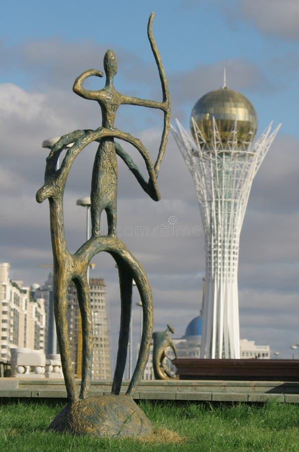 De toren van Baiterek royalty-vrije stock foto's