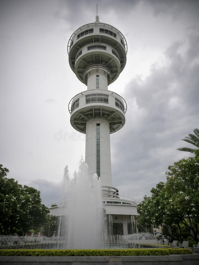 De Toren van Banharnjamsai, Suphanburi, Thailand stock foto's