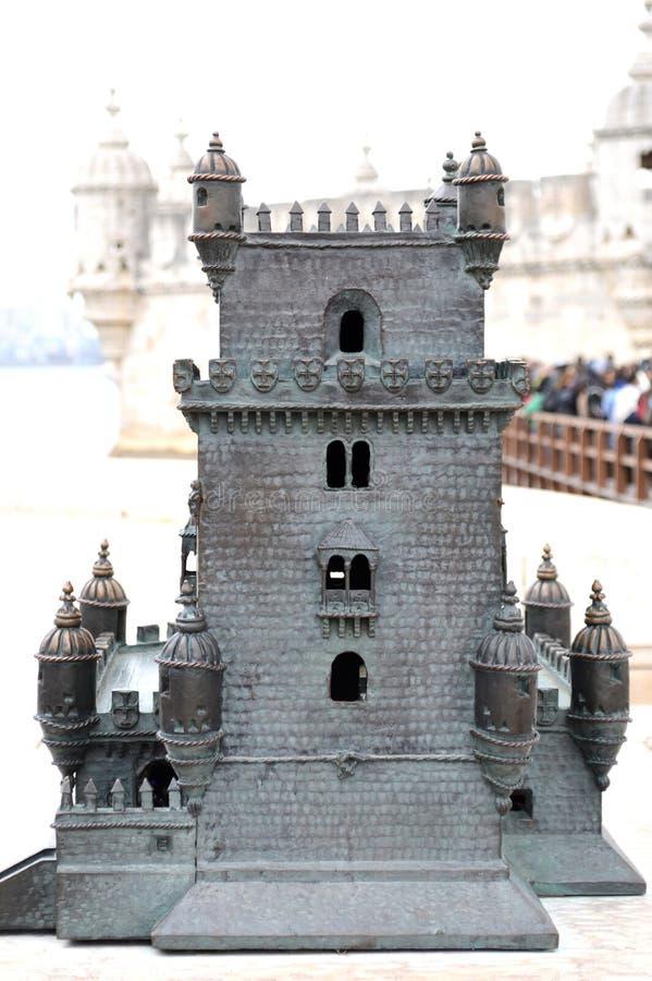De toren van Belem in de stad van Lissabon royalty-vrije stock fotografie