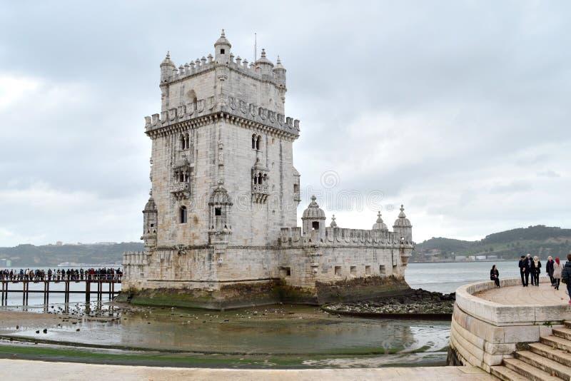 De toren van Belem in de stad van Lissabon, Europa royalty-vrije stock afbeelding