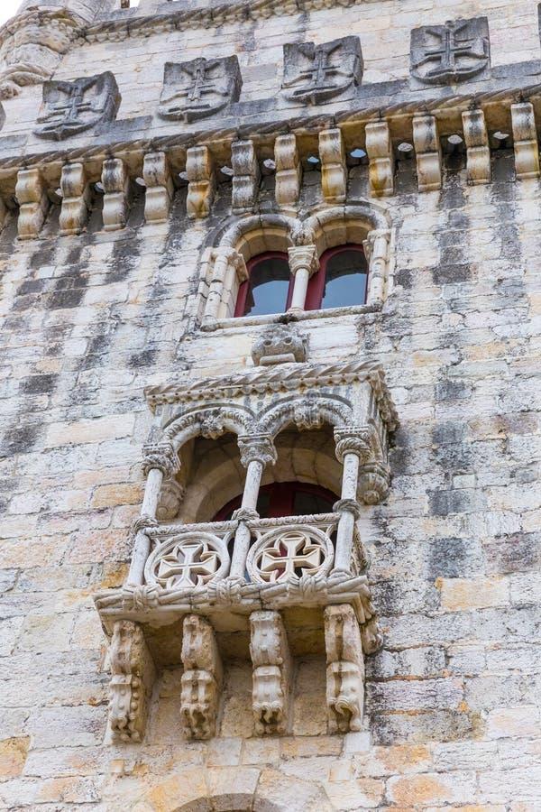 De Toren van Belem en Tagus-Rivier in Lissabon, Portugal stock afbeelding