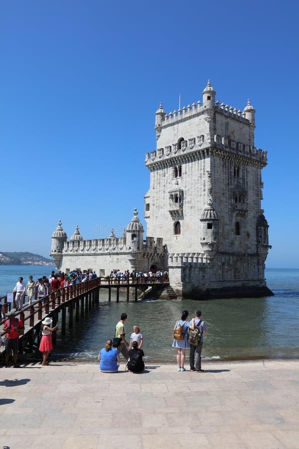 De Toren van Belem (Toren van Heilige Vincent) lissabon royalty-vrije stock foto