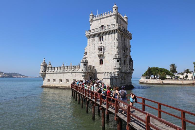 De Toren van Belem (Toren van Heilige Vincent) lissabon royalty-vrije stock afbeeldingen