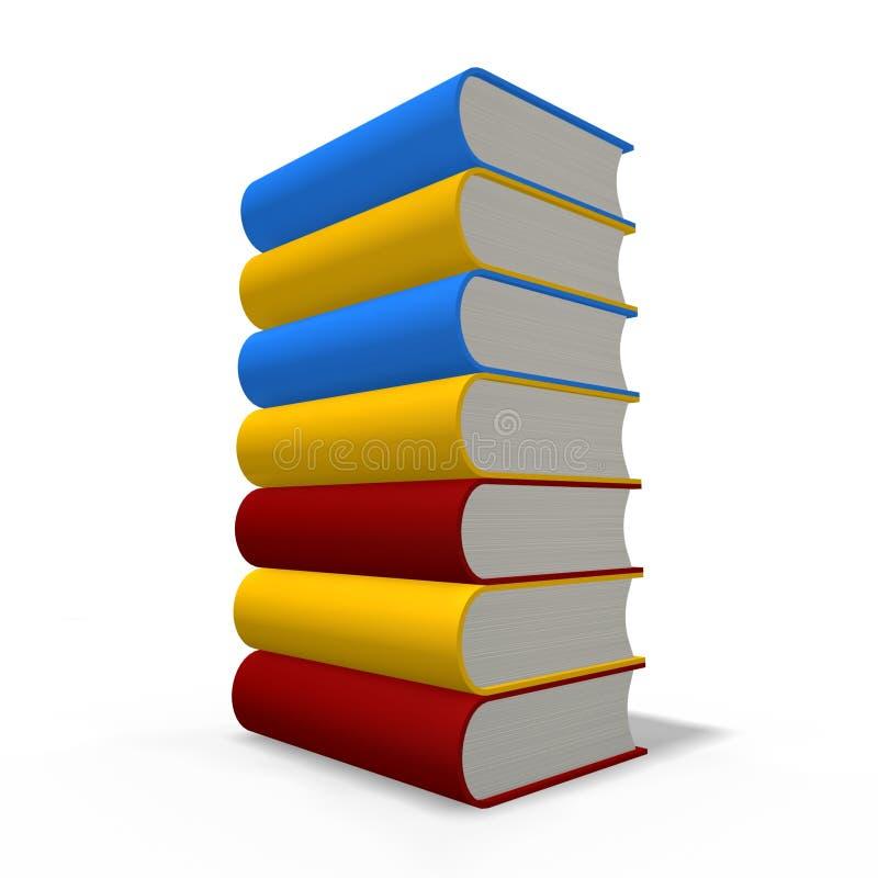De toren van boeken stock illustratie