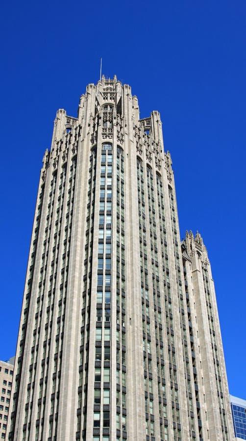De Toren van Chicago Tribune stock foto