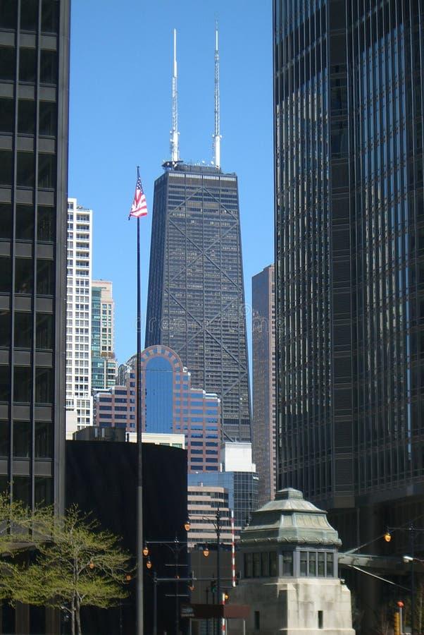 De Toren van Chicago - van Hancock stock foto