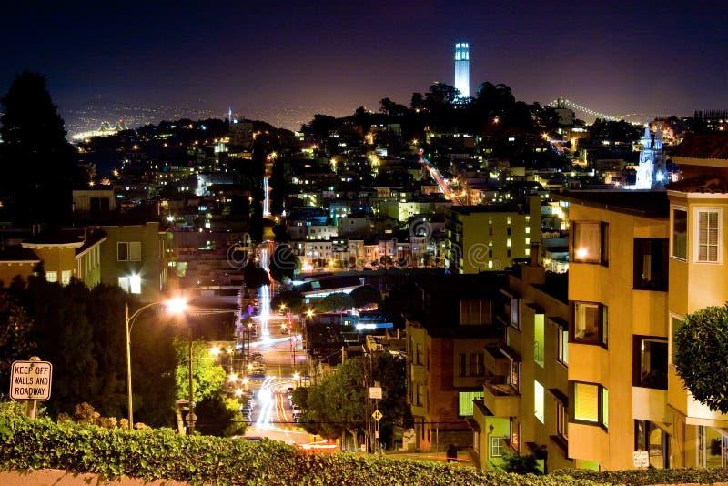 De nachtscène van San Francisco stock fotografie