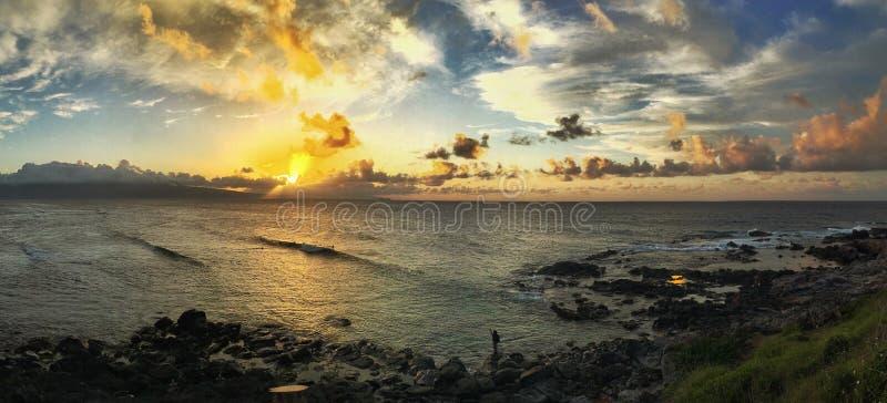 De Toren van de badmeester bij Zonsondergang stock foto's