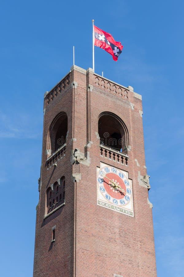 De toren van de baksteensteen van de effectenbeurs van Amsterdam royalty-vrije stock foto