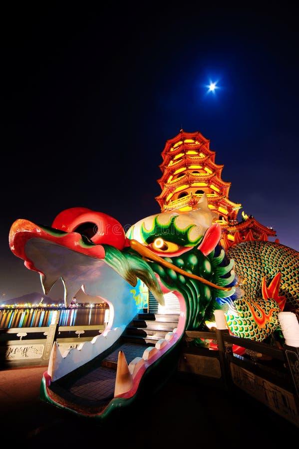 De toren van de draak van kaohsiung stock foto