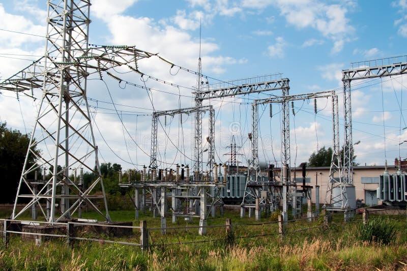 De toren van de elektriciteit royalty-vrije stock foto