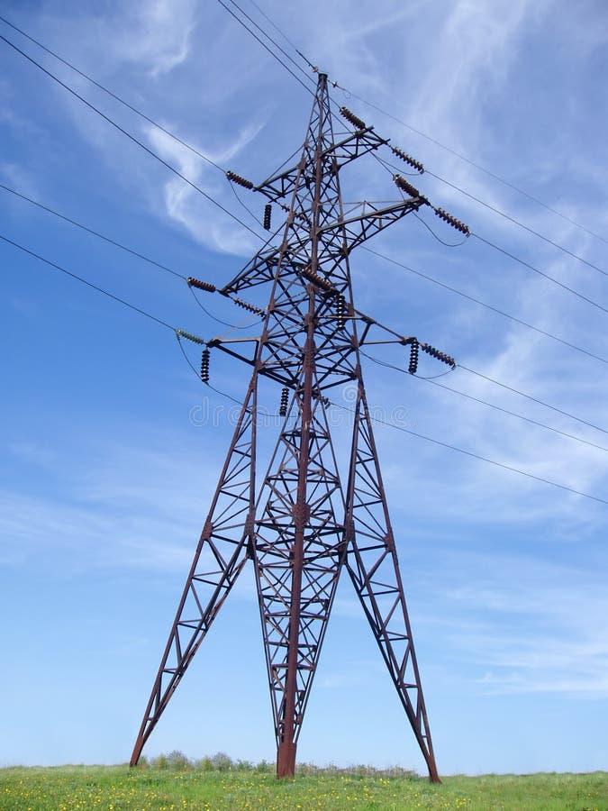 De toren van de hoogspanning stock afbeeldingen