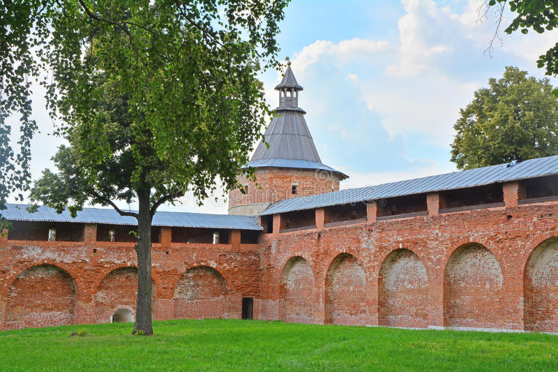 De Toren van de Karaul'nayapoort van Zaraysk het Kremlin royalty-vrije stock afbeelding