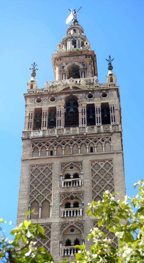 De toren van de kathedraal stock afbeelding
